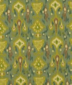 Robert Allen @ Home Khanjali Peacock Fabric - see it everywhere but colors may be perfect for the office