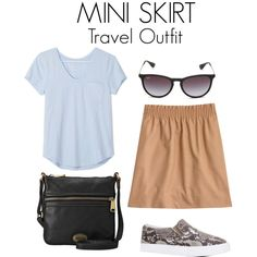 Mini Skirt Travel Outfit