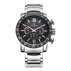 MEGIR Chronograph Men's Stainless Steel Watch