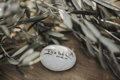 Pebble Place Setting - Spanish Wedding With Outdoor Ceremony & Stunning Reception Styled By Paloma Cruz Eventos With Bride in Manuel de Vivar and Images by Oscar Guillen