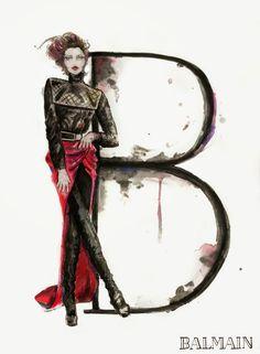 Saliendo de mi estilo, les dejo un alfabeto muy original que encontré, cada letra, representa el estilo de un diseñador de moda, me gustaron...