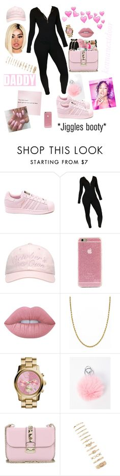 """""""triller than your momma 🆗"""" by kennanextdoor ❤ liked on Polyvore featuring adidas, October's Very Own, Lime Crime, Giani Bernini, MICHAEL Michael Kors, AG Adriano Goldschmied, Valentino and Forever 21"""