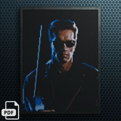The Terminator Cross Stitch Pattern INSTANT DOWNLOAD