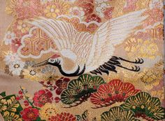 Detail of obi/kimono fabric
