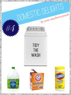 How to clean a washing machine...