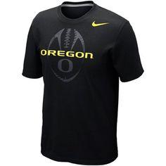 Nike Oregon Ducks Football Team Issue T-Shirt - Black