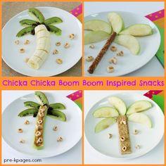 Chicka Chicka Boom Boom Inspired Snack Ideas for Preschoolers