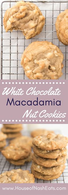 Buttery soft, chewy and studded with smooth, sweet white chocolate that shines and macadamia nuts that add amazing texture, these bakery style white chocolate macadamia nut cookies speak to my soul.