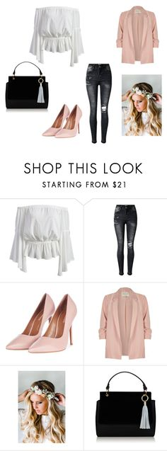 """Untitled #156"" by naiig ❤ liked on Polyvore featuring Topshop, River Island and Emily Rose Flower Crowns"
