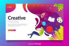 Gradient creative landing page Free Vector | Free Vector #Freepik #vector #freebusiness #freedesign #freetechnology #freetemplate