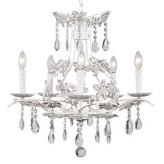 Chandelier - 5-Arm - Cinderella - White | Jack and Jill Boutique