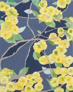 Blossom, 2020, acrylic on canvas, 40 x 50 cm Original Art, Original Paintings, Nature Paintings, Buy Art, Robin, Saatchi Art, Plant Leaves, Canvas Art, Fine Art