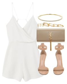 """Style #10363"" by vany-alvarado ❤ liked on Polyvore featuring Tiffany & Co., MANGO, Gianvito Rossi, Yves Saint Laurent and Kendra Scott"