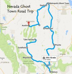 This Nevada ghost town road trip is a fabulous bucket list item for anyone interested in the Silver State's rich mining history and breathtaking scenery. Ghost Town Lyrics, Ghost Town Band, Places To Travel, Places To Go, Travel Destinations, Abandoned Cities, Abandoned Mansions, Abandoned Plantations, Nevada Ghost Towns