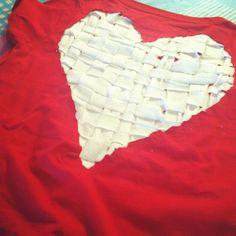Heart back T-shirt DIY craft