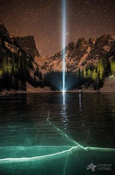 Frozen Illumination At Dream Lake Rocky Mountain National Park