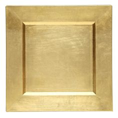 """The Jay Companies 13"""" x 13"""" Square Gold Polypropylene Charger Plate"""