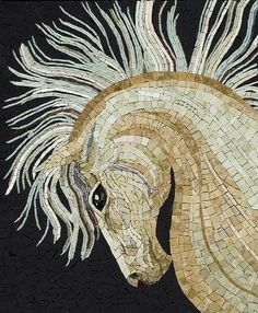 mosaic horse by prettyluckygirl