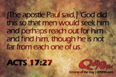 Acts 17:26&27 | Via Q90FM Radio