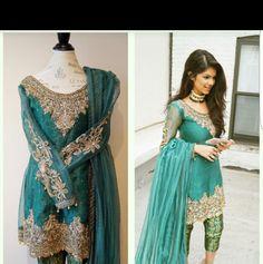 HOX NYC - Olivia dress. Handcrafted Zardozi and dhabka work. Pakistani fashion
