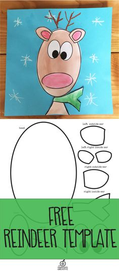 Free reindeer template and craft!