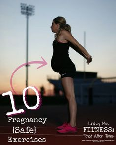 Staying fit during pregnancy.