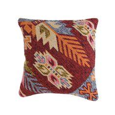 """No. 5 // 16"""" Authentic Turkish Cotton Kilim Pillow Cover + Cotton Pillow Insert"""
