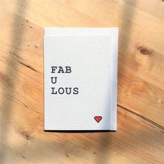 fabulous card, encouragement card, wonderful card, congratulations card by Designerpoems on Etsy