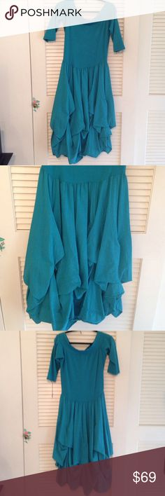 Luna Luz turquoise dress Luna Luz turquoise dress with skirt that can be adjusted Luna Luz Dresses