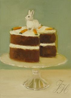 A Little Carrot Cake Open Edition Print by janethillstudio on Etsy, $26.00