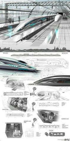 Concept luxury train for route Moscow Beijing Geek Futuristic design Transportation design Train Futuristic City, Futuristic Technology, Futuristic Design, Futuristic Architecture, Architecture Design, Technology Gadgets, Technology Design, Minimalist Architecture, Chinese Architecture