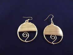 Silver Hoop Wire Wrapped Earrings Dangle by BellaUniqueJewels