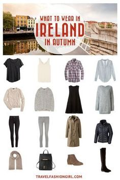 Planning a trip to Ireland in the Fall? Use this packing list to help you pack light for your trip. Click here for a comprehensive packing list for Ireland in Autumn. | TravelFashionGirl.com