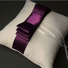 IN ROYAL BLUE Vintage Style Ring Pillow In Satin With Ribbons And Sash (More Colors) – USD $ 11.87