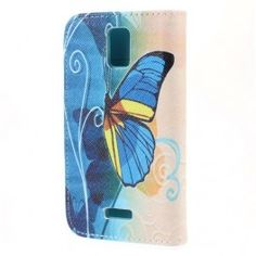 Huawei Y360 sininen perhonen puhelinlompakko.