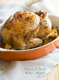 Easy Roast Baked Chicken Recipe with Lemon and Herbs — Chicken Recipe Box