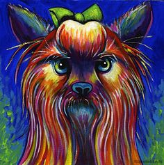 """Spoiled Rotten"" Limited Edition Print on Watercolor Paper.  Image size 7 3/4""x7 3/4"" $30"