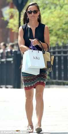 Stylish: Pippa in central London...