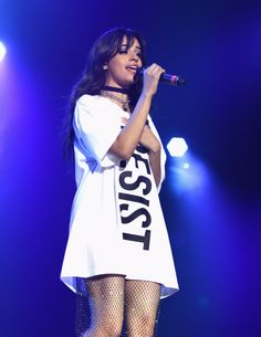 Camila Cabello preforming at ALCU