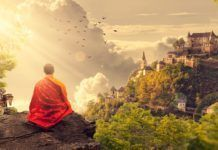 Learn how to stop negative thinking with a meditation you can learn in just one minute. Once you silence your inner critic, you will rise above your fears. Meditation Quotes, Meditation Music, Reiki, New Year Jokes, Buddhist Teachings, Morning Affirmations, Paz Interior, Negative Thinking, The Monks