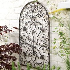 X Spanish Antique Arch Metal Garden Wall Art Home Outdoor Patio Decor Metal Garden Wall Art, Metal Tree Wall Art, Metal Wall Decor, Garden Mirrors, Outdoor Wall Art, Outdoor Walls, Indoor Outdoor, Wrought Iron Wall Art, Arched Wall Decor