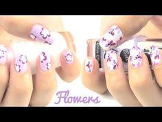 Diseños para uñas con flores.