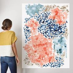 """""""Flutter Watercolor"""" - Art Print by Andi Pahl in beautiful frame options and a variety of sizes. #""""abstractartpaintingstechniques"""""""