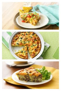 Bake ahead dinner pies from Bisquick Breakfast Lunch Dinner, Breakfast Bake, Brunch Ideas, Dinner Ideas, Jiffy Mix Recipes, Baked Lasagna, Daycare Menu, One Dish Dinners, Bisquick
