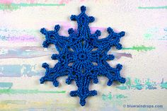 I love this Snowflake motif, see tutorial