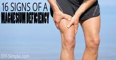 16 SIgns of a Magnesium Deficiency - DIY-Simple