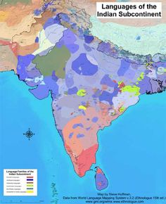 A map displaying the languages of the Indian subcontinent / Steve Huffman