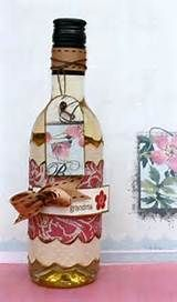 Decorating with old wine bottles