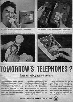 Funny Vintage Ads | Vintage Ad #954: Tomorrow's Telephones? Description from pinterest.com. I searched for this on bing.com/images