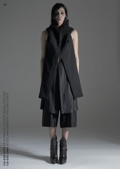 * layers of garments here is interesting and provides us inspiration in terms of how we might use different materials. REF - TVSCIA : A/W 2015 : INCEPTION : THE LOOKBOOK